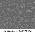 seamless vector pattern with... | Shutterstock .eps vector #261377534