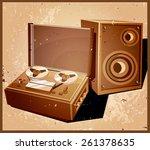 stylized vector illustration on ... | Shutterstock .eps vector #261378635