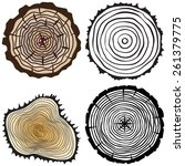 set of four tree rings icons.... | Shutterstock .eps vector #261379775