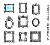 vector hand drawn set with... | Shutterstock .eps vector #261382031