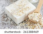 oatmeal soap handmade for a...   Shutterstock . vector #261388469