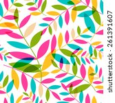 seamless pattern with colorful... | Shutterstock .eps vector #261391607