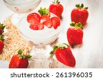 juicy and healthy strawberries... | Shutterstock . vector #261396035