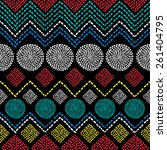 african geometric colorful... | Shutterstock .eps vector #261404795