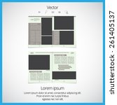 layout magazine  vector | Shutterstock .eps vector #261405137