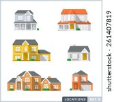 house icon set 1  private... | Shutterstock .eps vector #261407819
