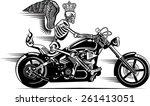 skeleton on motorbike   Shutterstock .eps vector #261413051