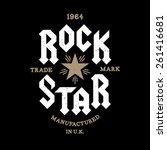 monochrome vector hipster retro ... | Shutterstock .eps vector #261416681