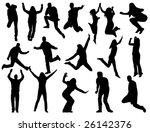 illustration of people jumping | Shutterstock .eps vector #26142376
