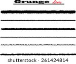 set of grunge and ink strokes.... | Shutterstock .eps vector #261424814