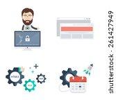 set of web development vector... | Shutterstock .eps vector #261427949
