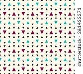 seamless geometric pattern. | Shutterstock .eps vector #261433271