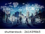 business global world plans... | Shutterstock . vector #261439865