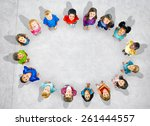children kids cheerful... | Shutterstock . vector #261444557
