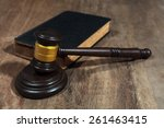judge gavel on wooden