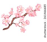 Watercolor Branch Blossom...