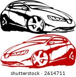 red and black cars   Shutterstock .eps vector #2614711