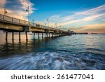 the belmont pier at sunset  in... | Shutterstock . vector #261477041