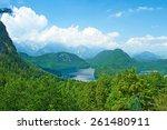 alpsee lake at hohenschwangau... | Shutterstock . vector #261480911