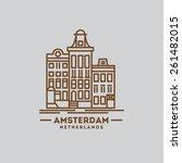 minimalist icon of amsterdam... | Shutterstock .eps vector #261482015