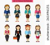 set of female professions.... | Shutterstock .eps vector #261496151