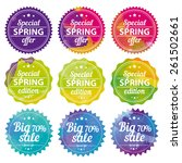 spring offer stickers with... | Shutterstock .eps vector #261502661