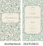 set of antique greeting cards ... | Shutterstock .eps vector #261513611