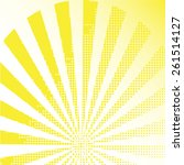 sunbeam halftone yellow... | Shutterstock .eps vector #261514127