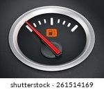 fuel gauge with warning light... | Shutterstock . vector #261514169