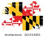 scratched maryland flag. a flag ... | Shutterstock .eps vector #261514301