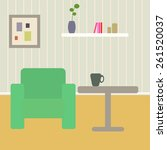 living room interior scene with ... | Shutterstock .eps vector #261520037
