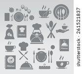 restaurant icons set | Shutterstock .eps vector #261521837