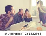 young group of people...   Shutterstock . vector #261522965