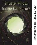 shutter photo frame for picture   Shutterstock .eps vector #26152729