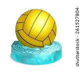 water polo ball on water ... | Shutterstock .eps vector #261527804