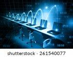 global computer network      Shutterstock . vector #261540077