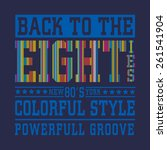 eighties style typography  t... | Shutterstock .eps vector #261541904