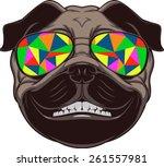 funny dog | Shutterstock .eps vector #261557981