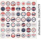 premium  quality retro vintage... | Shutterstock .eps vector #261564779