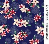 pattern of flower   Shutterstock . vector #261571775