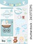 newborn baby boy... | Shutterstock .eps vector #261572291