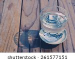 Glass Of Water On Wood...