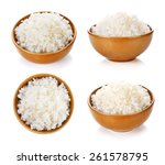 rice in a bowl on a white... | Shutterstock . vector #261578795