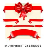 red bow  | Shutterstock .eps vector #261580091