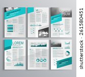 gray brochure template design... | Shutterstock .eps vector #261580451