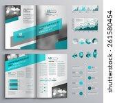 gray brochure template design...   Shutterstock .eps vector #261580454