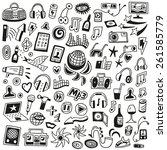 music   doodles set | Shutterstock .eps vector #261585779