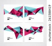 abstract vector background set... | Shutterstock .eps vector #261588419