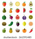 vector pictures of fruits and... | Shutterstock .eps vector #261591485