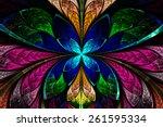 multicolored symmetrical... | Shutterstock . vector #261595334